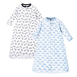 Hudson Baby® Size 3-9M 2-Pack Paper Airplane Wearable Blankets in Blue