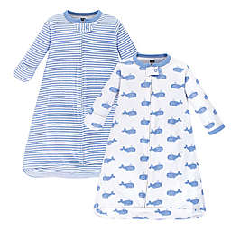 Hudson Baby® 2-Pack Whale Long Sleeve Sleeping Bag in Blue