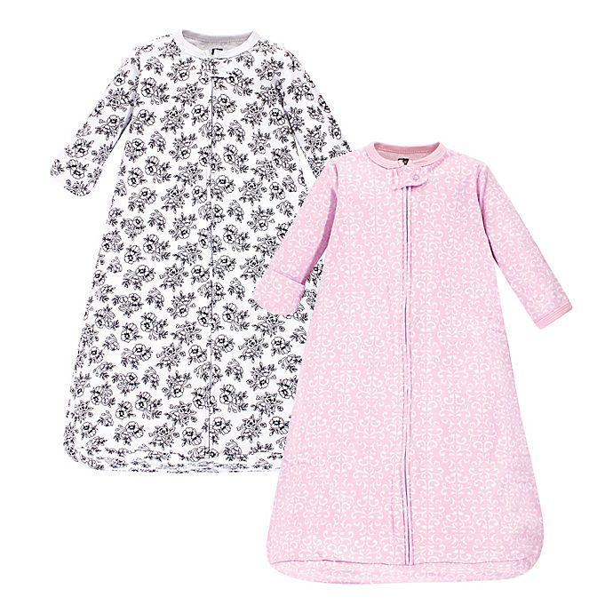 Alternate image 1 for Hudson Baby® 2-Pack Toile Long Sleeve Sleeping Bag in Pink/Black