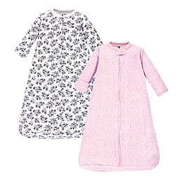 Hudson Baby® 2-Pack Toile Long Sleeve Sleeping Bag in Pink/Black