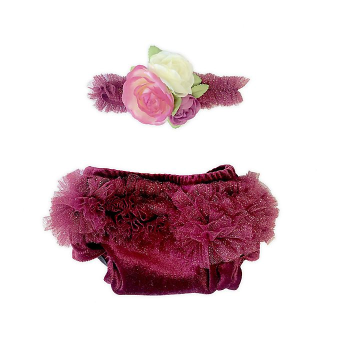 Alternate image 1 for Toby Fairy™ Newborn 2-Pack Velvet Berry Diaper Covers