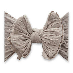 Baby Bling One Size WAFFLE FAB-BOW-LOUS Headband in Taupe
