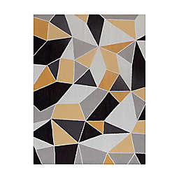"""Anji Mountain Figueres 3' x 4' Handcrafted 0.25"""" Rug'd Chair Mat in Yellow/Grey"""