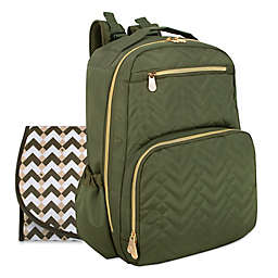 Fisher-Price® Quilted Backpack Diaper Bag in Olive