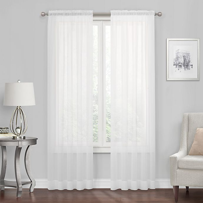 Alternate image 1 for Voile Sheer Rod Pocket Window Curtain Panel