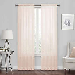 Voile 72-Inch Rod Pocket Window Curtain Panel in Blush