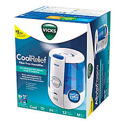 Vicks® Ultrasonic CoolRelief Filter-Free Humidifier + VapoSteam