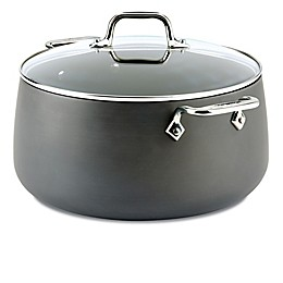 All-Clad HA1 Nonstick 8 qt. Hard-Anodized Covered Stock Pot in Grey