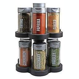 Olde Thompson 12-Spice Revolving Spice Rack in Graphite Black