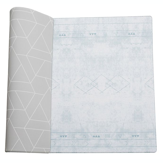 Alternate image 1 for Little Bot Large Zen Line/Oracle Ofie Reversible Playmat in Grey