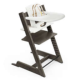 Tripp Trapp® High Chair Complete in Hazy Grey with Icon Multicolor Cushion