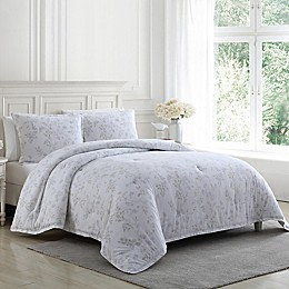 Laura Ashley® Fawna Flannel 3-Piece Reversible Comforter Set in Neutral