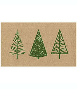 Tapete decorativo Holiday Trees de 50.8 x 86.36 cm en verde