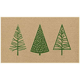Holiday Trees 1'8 x 2'10 Accent Rug in Green