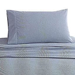 UGG® Juvie Flannel Twin Sheet Set in Dark Denim Stripe