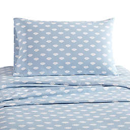 UGG® Juvie Flannel Full Sheet Set in Sky Blue