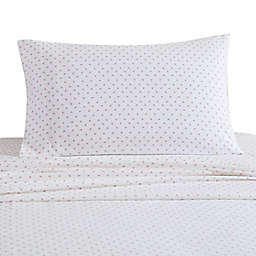 UGG® Juvie Flannel Twin Sheet Set in Peach Hearts