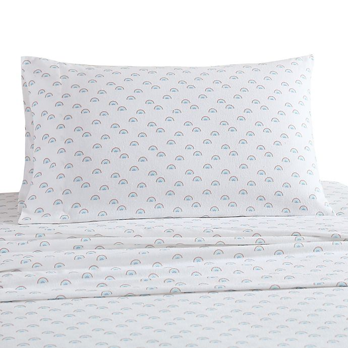 Alternate image 1 for UGG® Juvie Flannel Queen Sheet Set in Rainbow