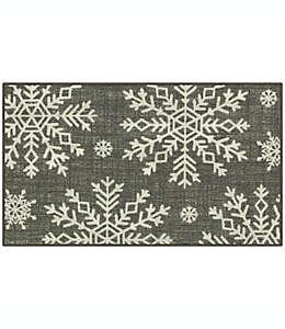 Tapete decorativo Holiday Snowflakes de 50.8 x 86.36 cm en gris