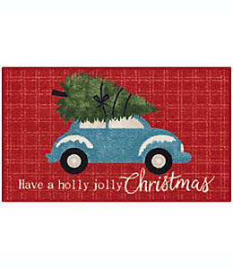 Tapete decorativo Holiday Truck de 50.8 x 86.36 cm en rojo