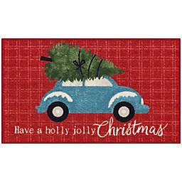 Holiday Truck 1'8 x 2'10 Accent Rug in Red