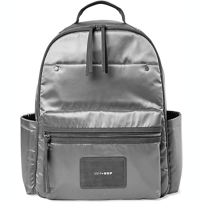 Alternate image 1 for SKIP*HOP® Skyler Diaper Backpack in Grey