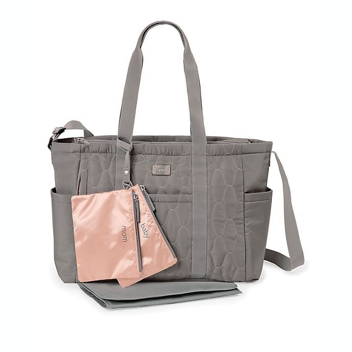 Alternate image 1 for carter's® Pack It All Diaper Tote Bag in Grey
