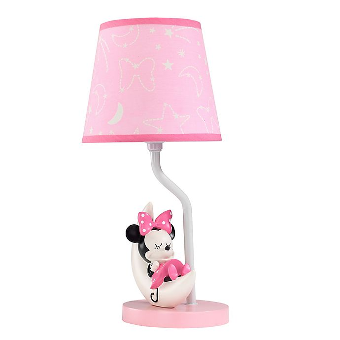 Alternate image 1 for Lambs & Ivy® Minnie Mouse Lamp In Pink/White with CFL Bulb