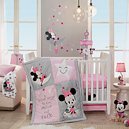 Lambs & Ivy® Minnie Mouse 4-Piece Crib Bedding Set in Pink/Grey