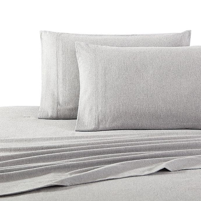 Alternate image 1 for UGG® Flannel Standard/Queen Pillowcases in Heather Grey (Set of 2)