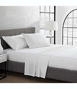Set de sábanas queen de algodón UGG® color nieve