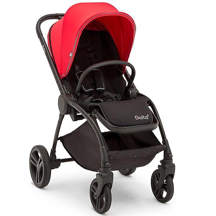 Alternate image 1 for Delta Children Revolve Reversible Stroller in Dark Cherry