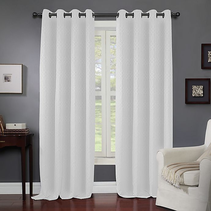 Alternate image 1 for Wyndham Light Filtering Grommet Window Curtain Panel