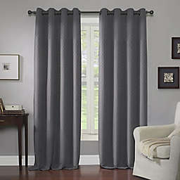 Wyndham 63-Inch Grommet Window Curtain Panel in Charcoal (Single)