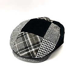 Toby Fairy™ Houndstooth Patchwork Cabbie Hat in Cloud