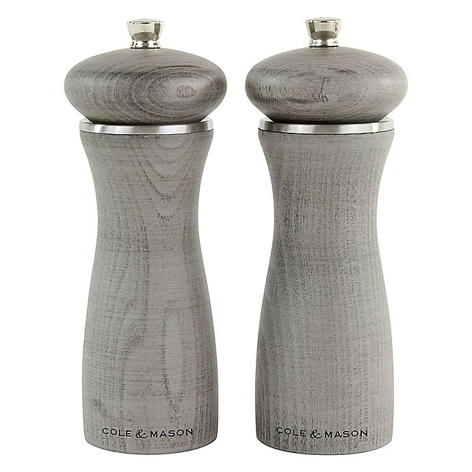 Alternate image 1 for Cole & Mason Sherwood 2-Piece Salt and Pepper Mill Gift Set in Grey