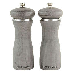 Cole & Mason Sherwood 2-Piece Salt and Pepper Mill Gift Set in Grey