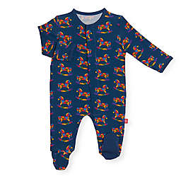 Magnetic Me® by Magnificent Baby Rocking Horse Footie in Navy
