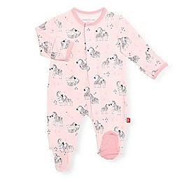Magnetic Me® by Magnificent Baby Little Ones Zebra Footie in Pink