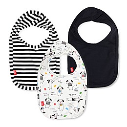 Magnetic Me® by Magnificent Baby One Size 3-Pack Raise the Woof Bibs in Black/White