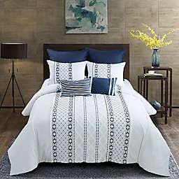 Donna Sharp Trellis 3-Piece Queen Comforter Set in White