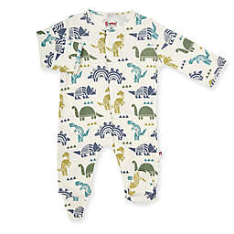 E=MC2™ Newborn Dino Maze Magnetic Footie in White