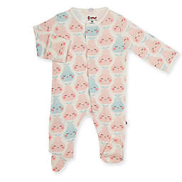 E=MC2™ Size 3-6M Happy Pears Magnetic Footie in White
