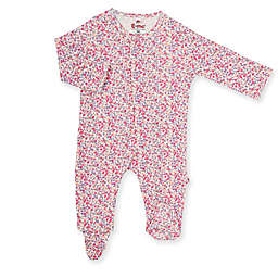 E=MC2 Fall Berries Magnetic Footie in Pink