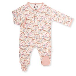 E=MC2 Woodland Floral Magnetic Footie in Pink