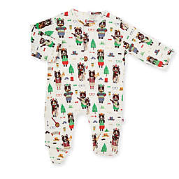 E=MC2 Size 9M Jam-bear-ee Magnetic Footie in White