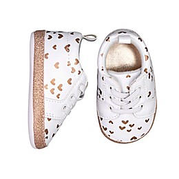 On the Goldbug™ Heart Low Top Sneaker in Rose Gold