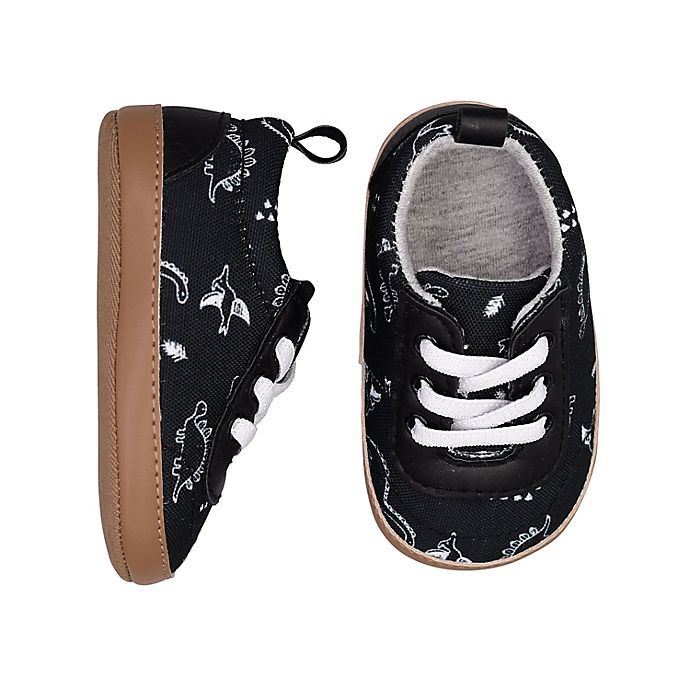 Alternate image 1 for On the Goldbug™ Low-Top Dino Slip-On Sneaker in Black