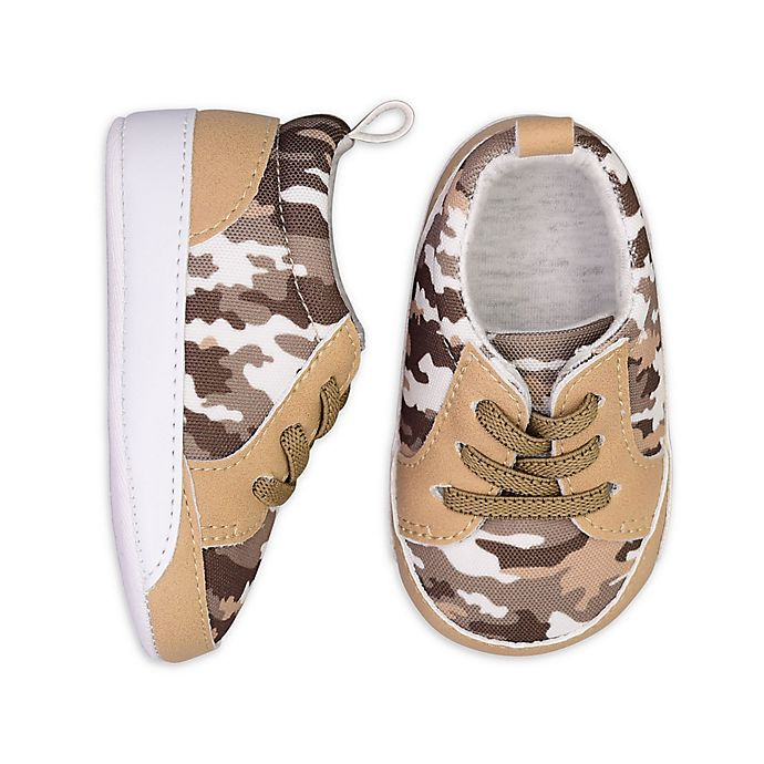 Alternate image 1 for On the Goldbug™ Camo Low Top Sneaker in Tan