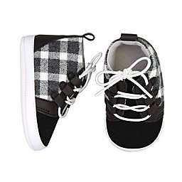 On the Goldbug™ Size 3-6M Plaid High Top Sneaker